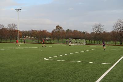 Barrhead High pupils playing football